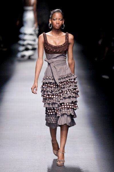 By Bongiwe Walaza    Love the ruffles ...~Latest African Fashion, African Prints, African fashion, Ankara, Kitenge, Aso okè, Kenté, brocade ~DKK