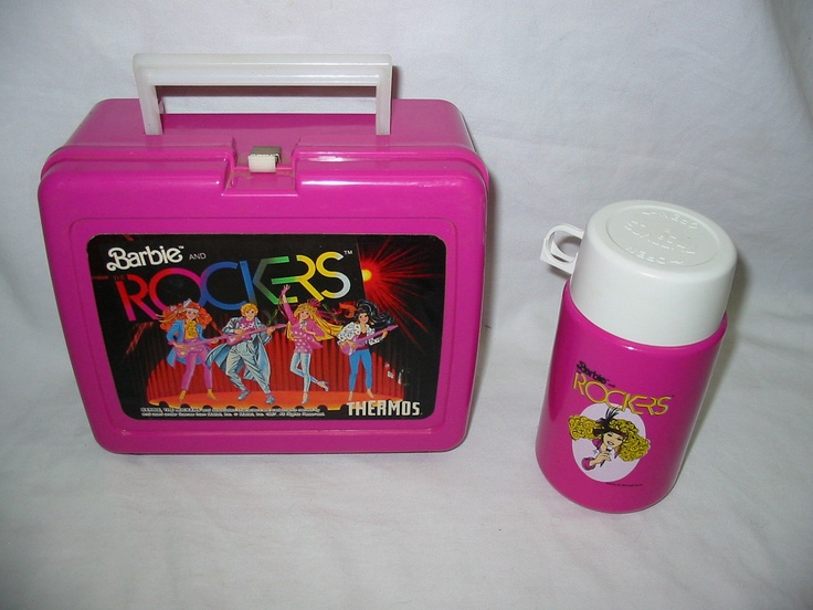 Barbie and The Rockers Lunch box and thermos 80s barbie sensation retro and awesome set to start school with. via Etsy.