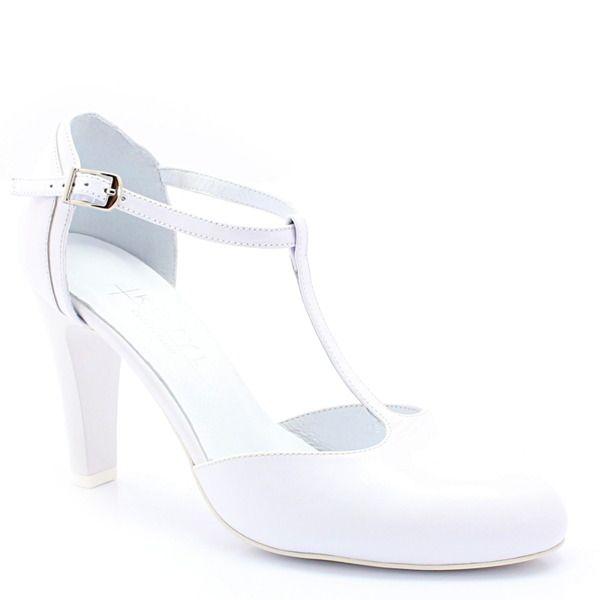 Kotyl 5879 Biale Slubne Taneczne Skora Buty Damskie Czolenka Pora Roku Damskie Wiosna Pora Roku Damskie Lato Buty Damskie C Heels Shoes Fashion