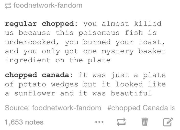 I need to watch Chopped Canada