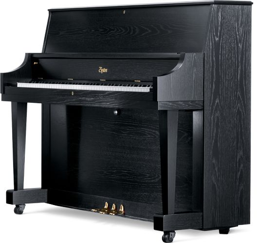 """Boston Piano, designed by Steinway & Sons UP-118S PE: Our institutional model is perfect for any music room and features double-rubber casters for ease of movement and locks for the top and fallboard. Height: 46 ½"""" (118cm)"""