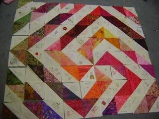 HST (Half square triangles) quilt