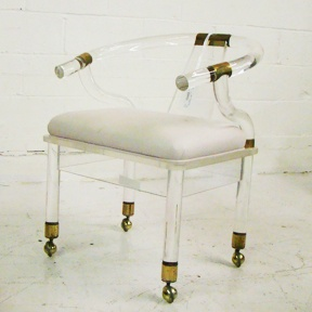 Lucite Ming Chair On Casters I Like The Wheels. It Gives Them A Bizarre  Juxtaposition