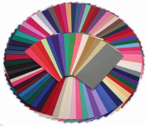 Sets o packs de  pañoletas para realizar el test de color o análisis de color en popelín de algodón. Para hacer análisis según el sistema estacional,  tonal o  combinación.  http://expertosenimagen.com/?page_id=203