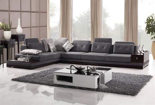 Hilla Sectional Sofa W/ Shelving