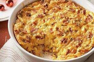 Bacon-Cheddar Corn Pudding recipe
