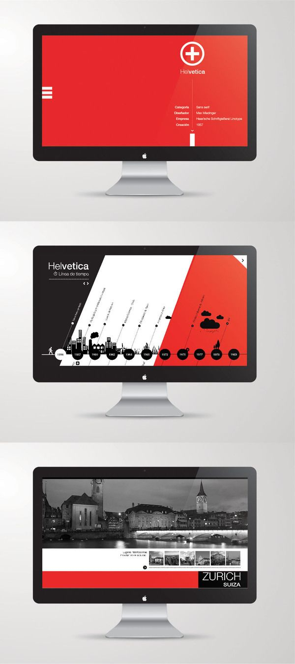 Timeline & History E-Book by Martín Liveratore, via Behance