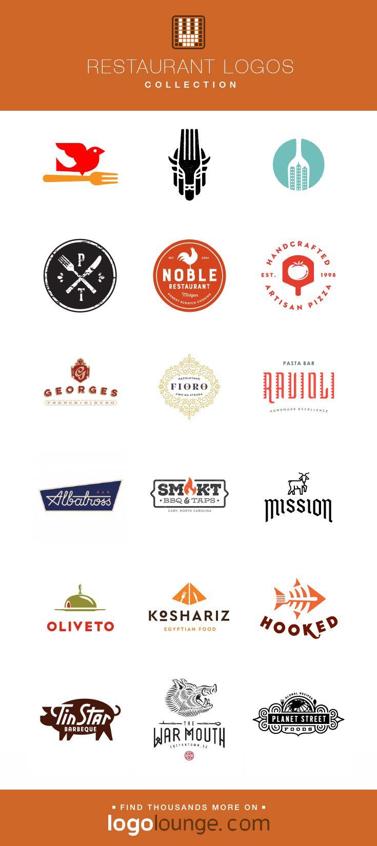 Logo Collection Restaurant Vector Logo Designs Utensils Fork