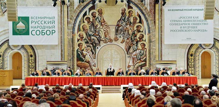 Synode des Moskauer Patriarchats in den Licht Geheimnis Kriegserklärungen