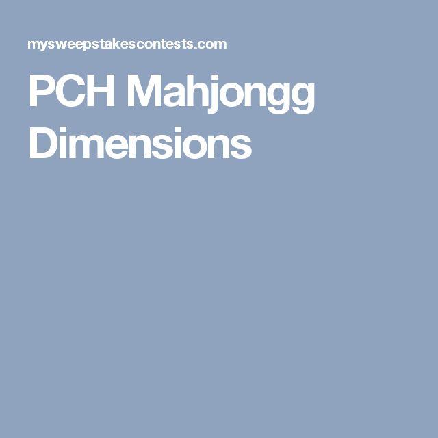PCH Mahjongg Dimensions