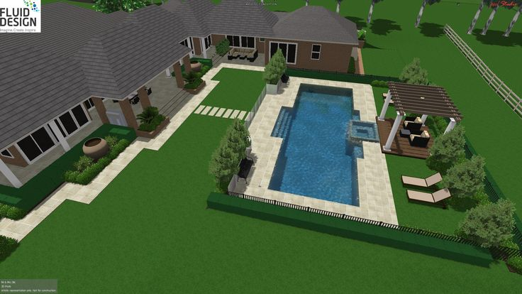 Modern Country style home w/ 15m pool, integrated spa w/ spillover to pool, sun deck w/ shade structure.