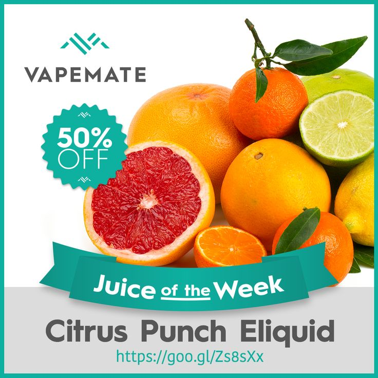 Juice of the Week is Citrus Punch! 50% off, no promo code, just order. #Vapeon #ukvapers https://www.vapemate.co.uk/eliquid/vapemate-citrus-punch-eliquid.html