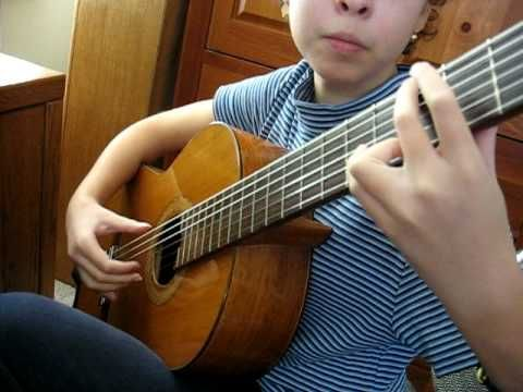 """10 year old classical guitarist Katie H. plays """"El Abejorro"""" (January 2009). I now have two CDs for sale! Search for """"Katie Holmes - Prelude"""" or """"Quinceanera..."""