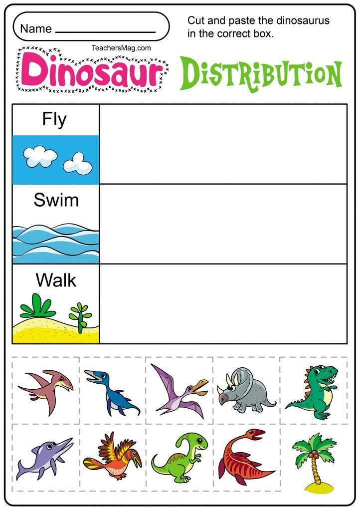 Free Printable Dinosaur Worksheets Kindergarten