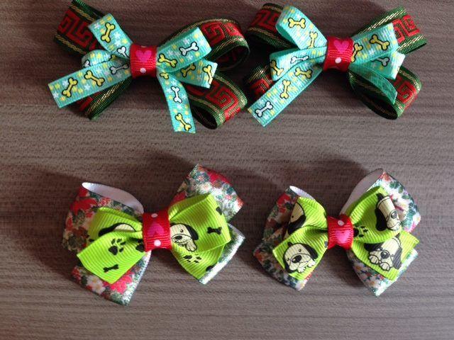 Moños navideños para perros y gatos. #Moños #Navidad #Perros #Gatos