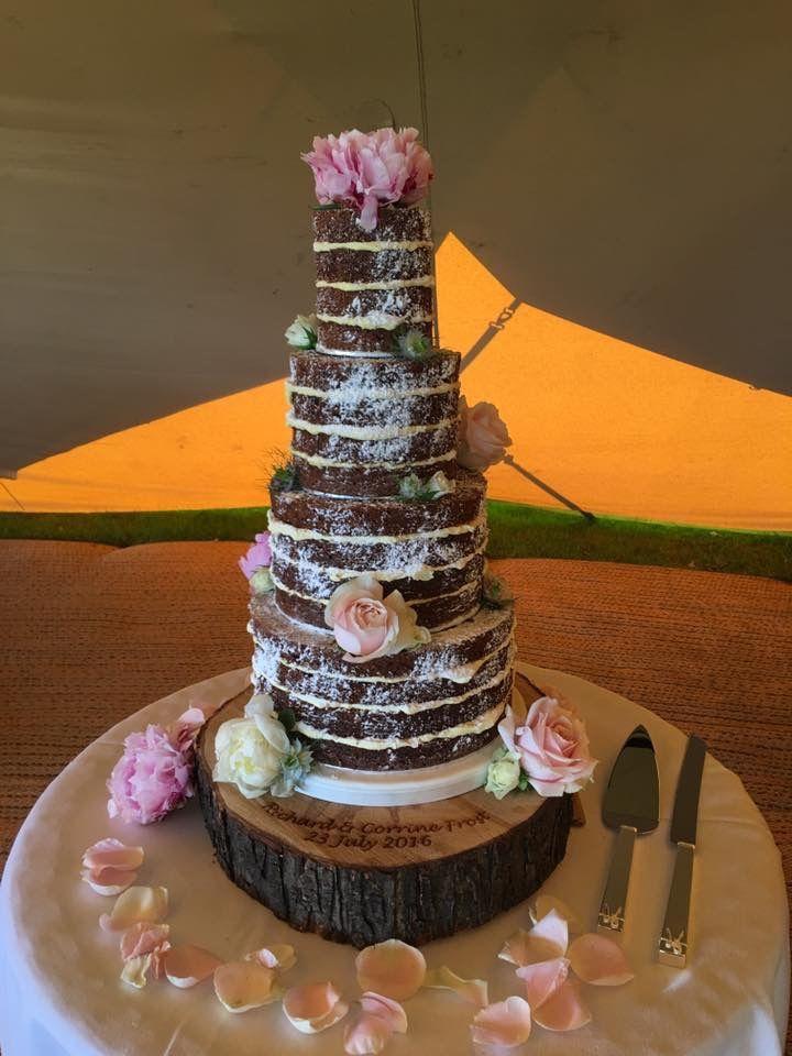 Naked wedding cake by Plumtree Bakehouse