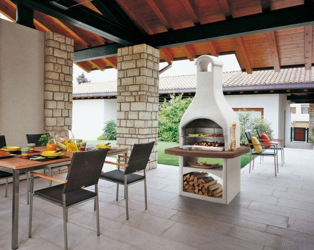 Discover the pure enjoyment of barbecue - Barbecue Garden Palazzetti - beton cellulaire en exterieur