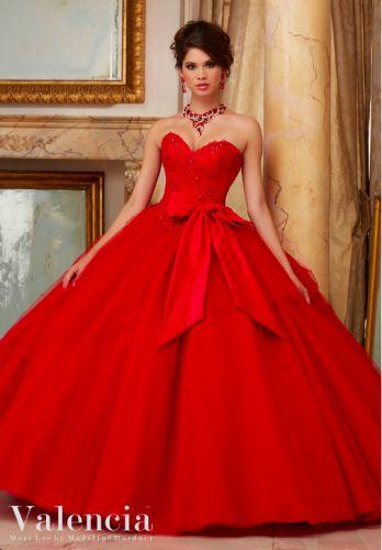 vestidos de quinceañera rojos 2016 Mori Lee