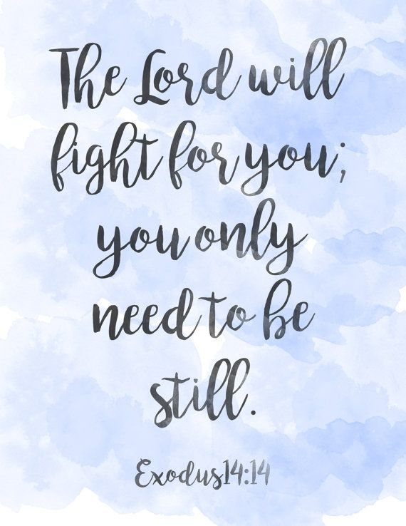 Exodus 14:14 Scripture printable