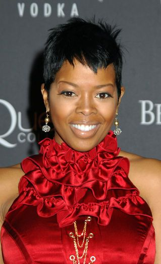 Malinda Williams with straight hair