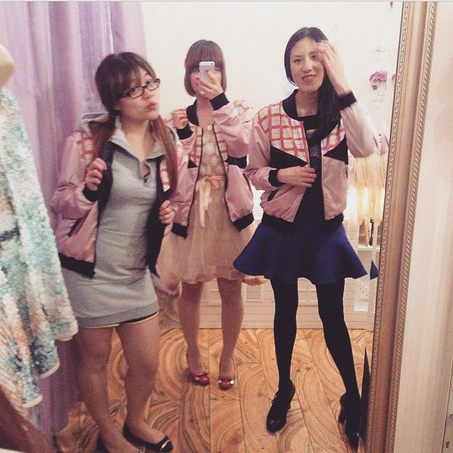 "Pretties wearing the ""HeartBreakerBomber jacket"" in store at @lady_petrova regram @hanako_k_ #wndlnd #ladypetrova #ladies #girlgang #pink #bomberjacket #designer #ss15 #fashion #clothing #pink #melbourne #cbd"