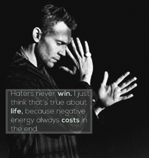 Wise words from Tom Hiddleston