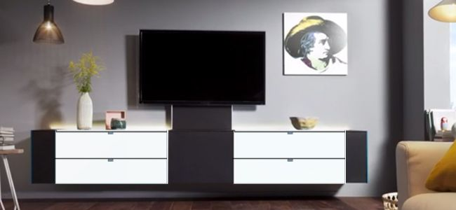 musterring q media wandmeubel voor uw audio en tv opstelling te koop en te zien bij profita. Black Bedroom Furniture Sets. Home Design Ideas