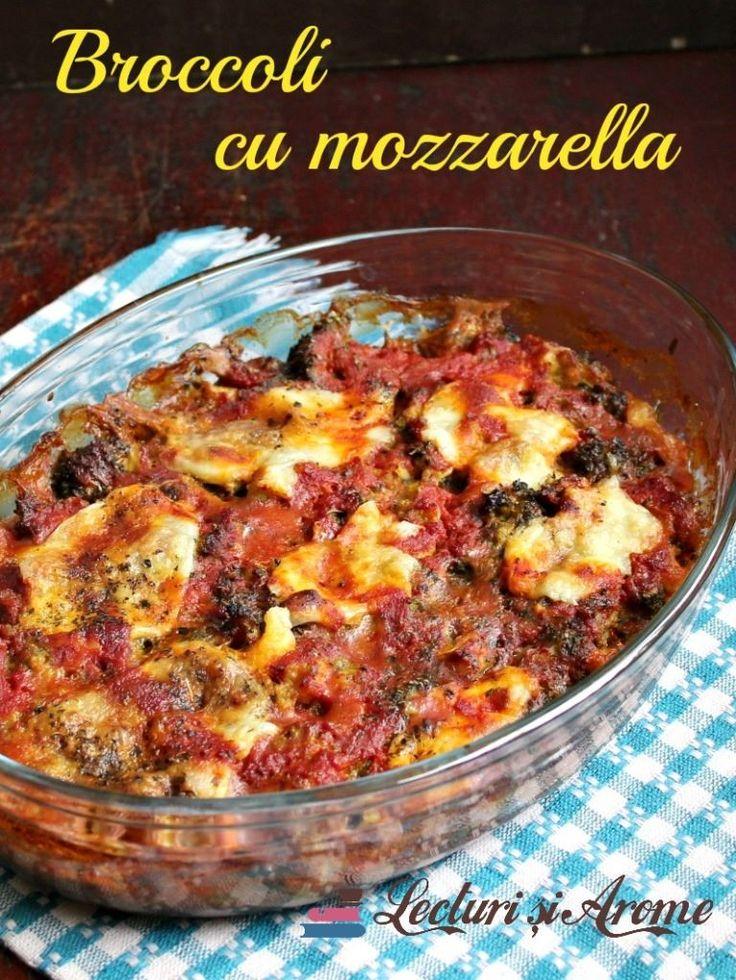 Broccoli cu mozzarella si sos de rosii