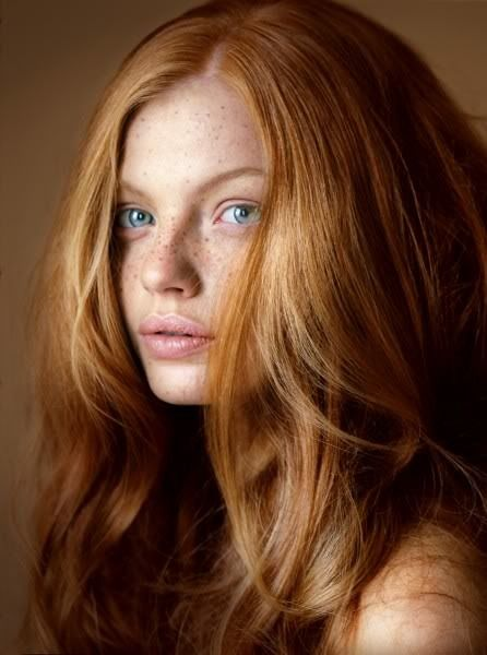 Blue Eyed Ginger Girl With Freckles Redheads Pinterest