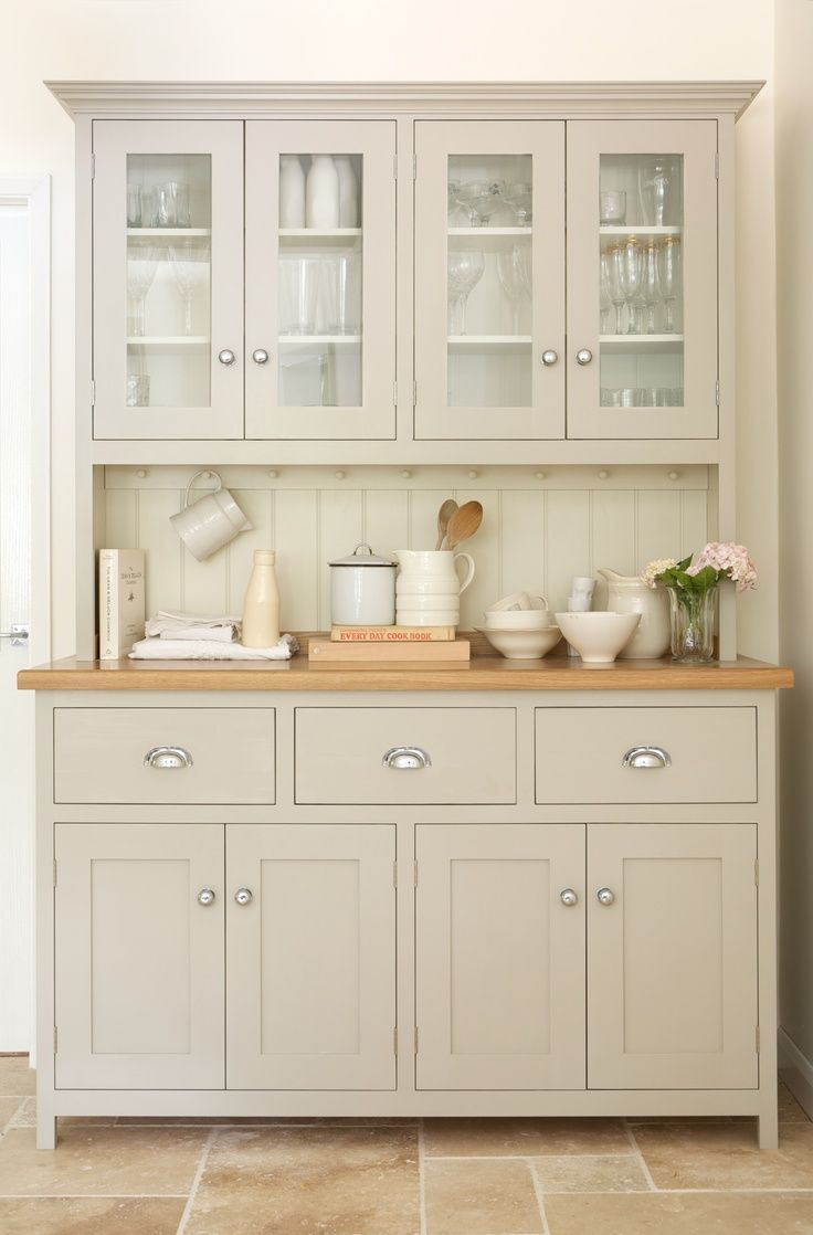 This beautiful glazed dresser is from the deVOL Real Shaker Kitchen Range. All of deVOLs furniture is hand-made and hand-painted here in Leicester in the UK.