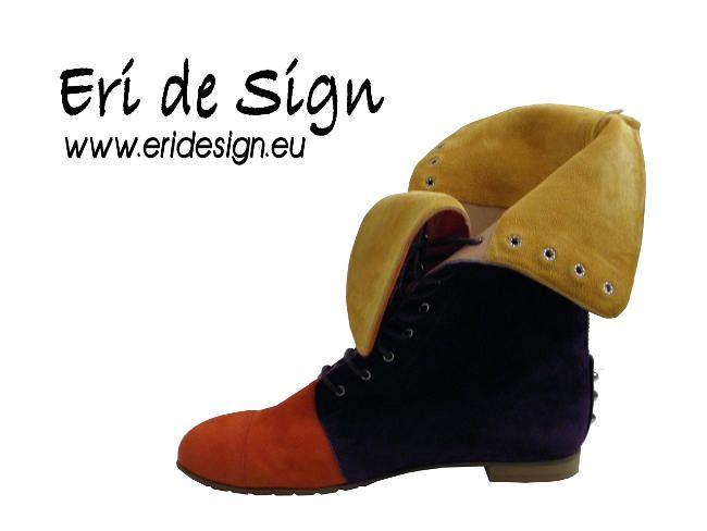 Purple - Yellow -Orange Suede FMB