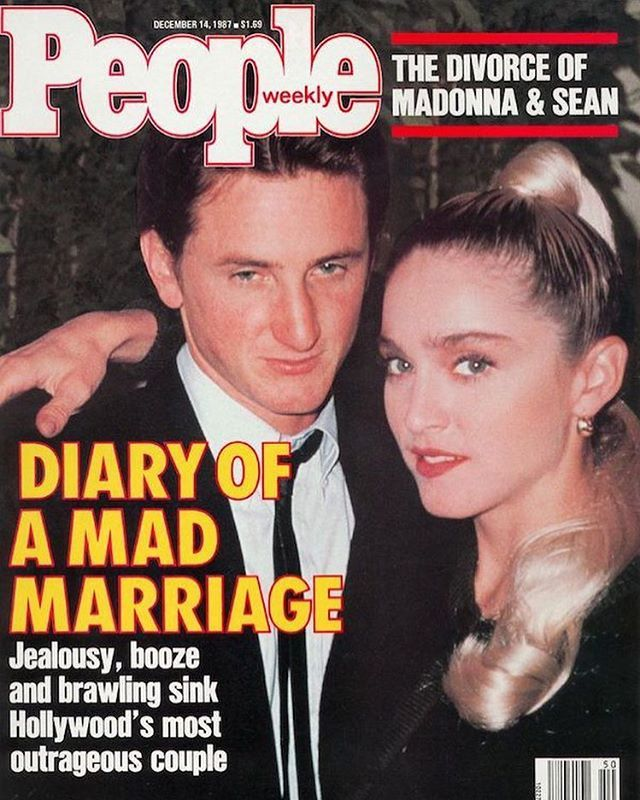 DIARY OF A MAD MARRIAGE. #madonna and #seanpenn People magazine December 1987