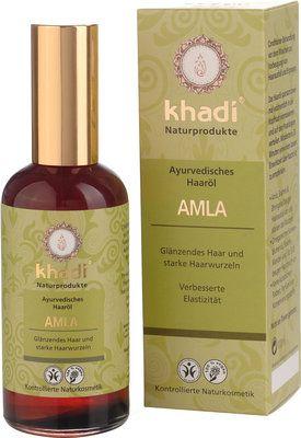 Khadi Amla Haaröl hilft bei Haarausfall und Ergrauen der Haare. Amla ist eines der ältesten benutzten Haar-Conditioner. Es gibt dem Haar einen natürlichen Glanz und macht es wunderbar weich. In Indien gilt Bhringaraj als berühmtes Mittel zur Förderung eines üppigen Haarwuchses + um Ergrauen + Ausfall der Haare zu stoppen. Amla versorgt das Haar mit wertvollen Vitaminen + hat von allen Pflanzen die höchste Konzentration von Vitamin C und ist deshalb ein hervorragendes Antioxidant - 100ml 9,99…
