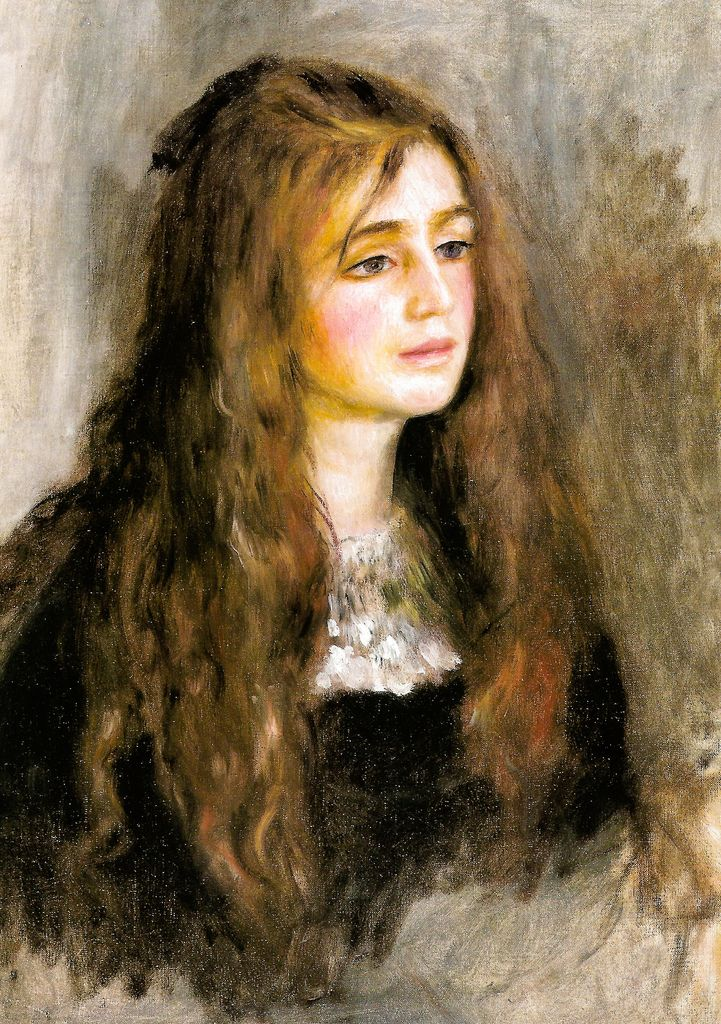 Pierre Auguste Renoir - Portrait of Julie Manet, 1894 at Musée Marmottan Monet Paris France