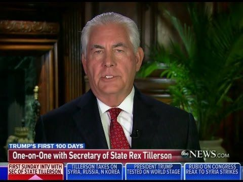 "[FULL INTERVIEW] Rex Tillerson Interviwed by George Stephanopoulos On ""T..."