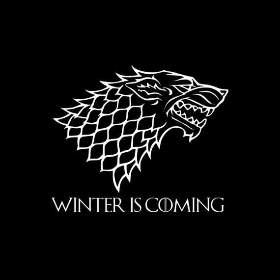 Game Of Thrones House Stark Decal Game Of Thrones Houses House Stark Dire Wolf