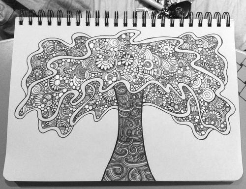 Ideas on pinterest tangled painting family tattoos and tree of life - 40 Best Images About Zentangle Trees On Pinterest The