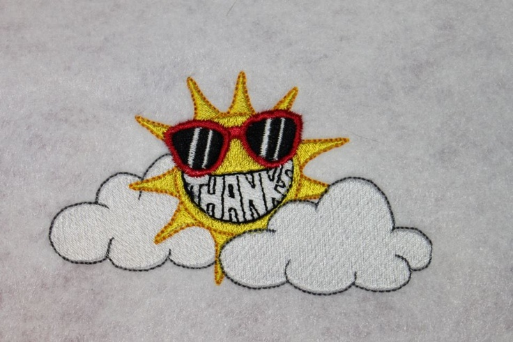 Embroidered for our sunshine today in Minnesota!