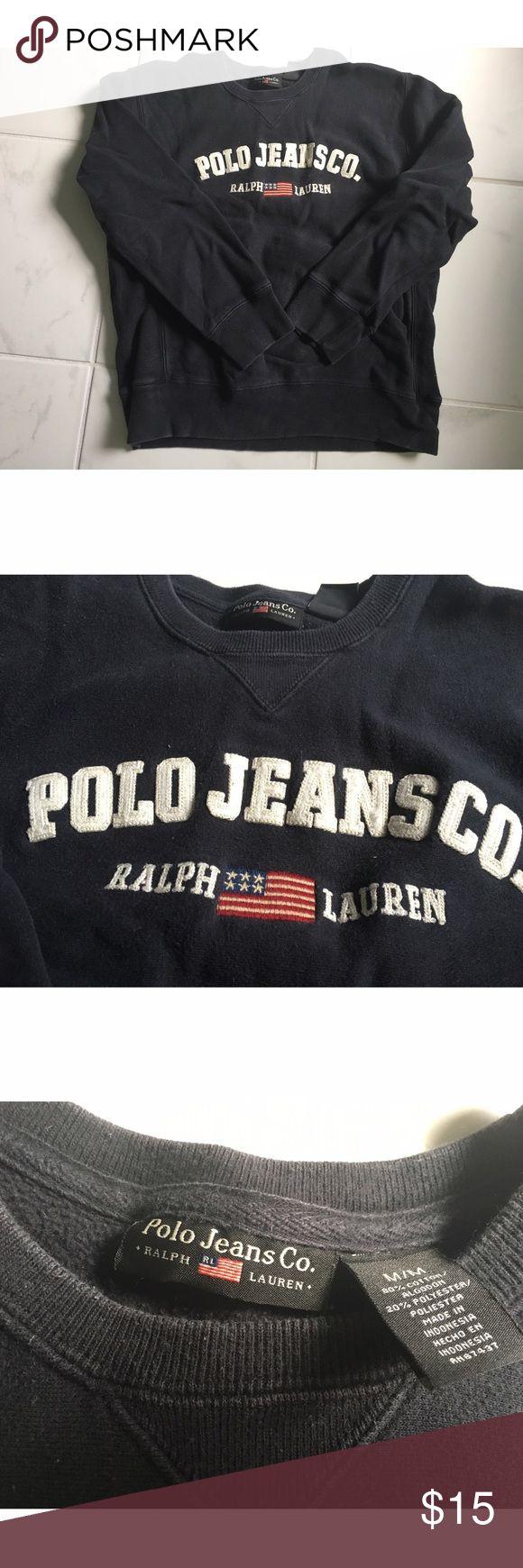 Vintage polo Ralph Lauren crewneck Vintage navy blue polo crewneck. Says women's medium, but fits more like a small. Polo by Ralph Lauren Tops Sweatshirts & Hoodies