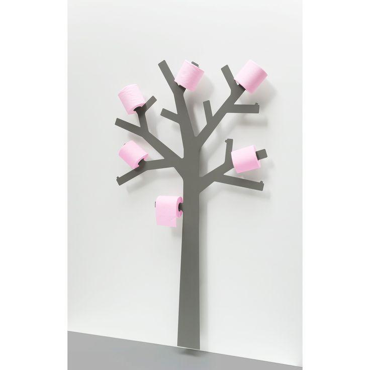 Porte Papier WC métal arbre gris PQTIER