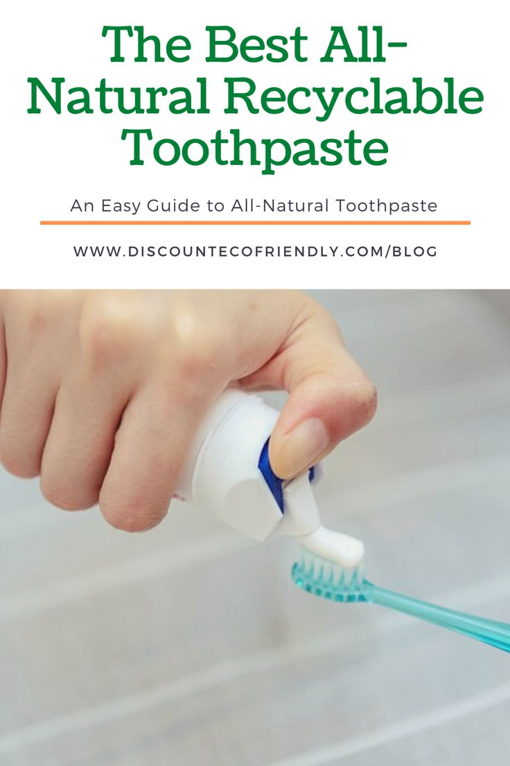 Allnatural toothpaste the best recyclable toothpaste for