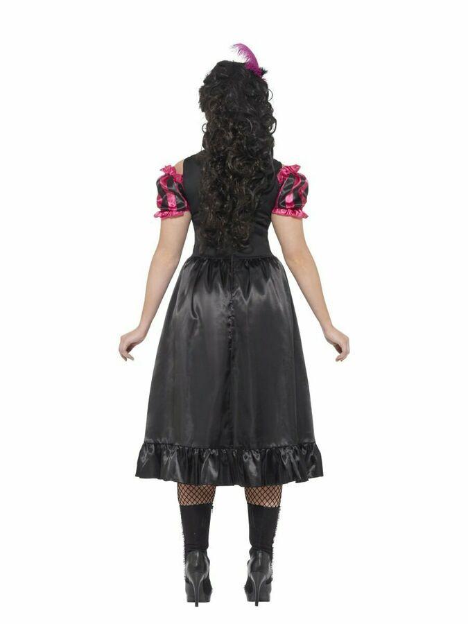 Curves Sassy Saloon Costume Women/'s Wild West Fancy Dress Plus Size XL-XXXL