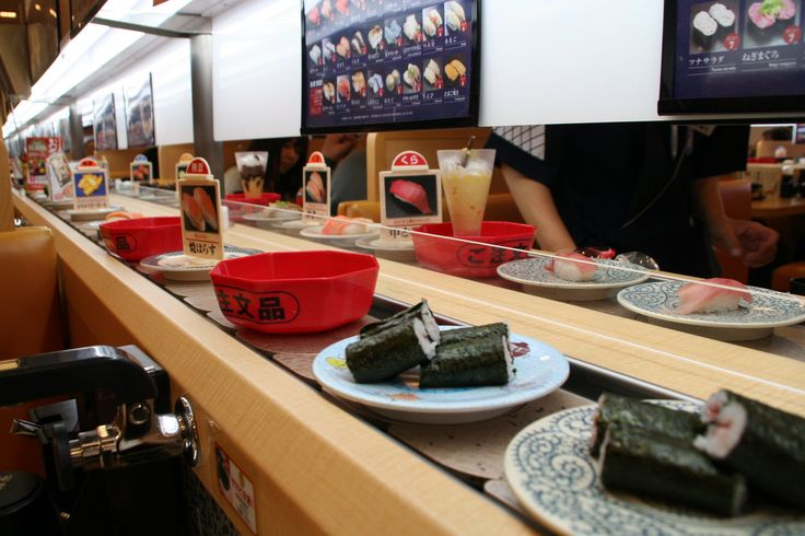 Conveyor belt sushi translated into Japanese is Kaiten-zushi, which means rotation-sushi, or sushi-go-round. Being one in many forms of sushi restaurants,