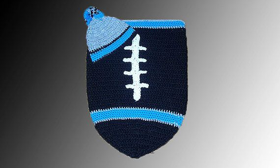Carolina Panthers Inspired Football Baby Cocoon & by CoverMeAlways, $40.00 #football #babypanther