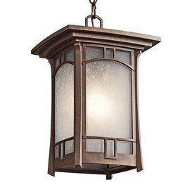 Kichler Lighting Soria 14 In Aged Bronze Outdoor Pendant Light 49452ag