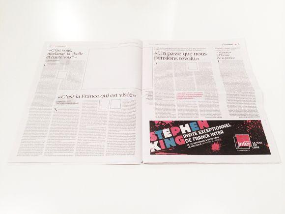 IdeaFixa » Uma homenagem às avessas: jornal é impresso sem fotos