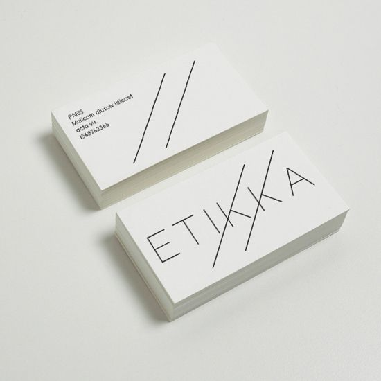 ETTIKA logo corporate design visual identity graphic branding business card