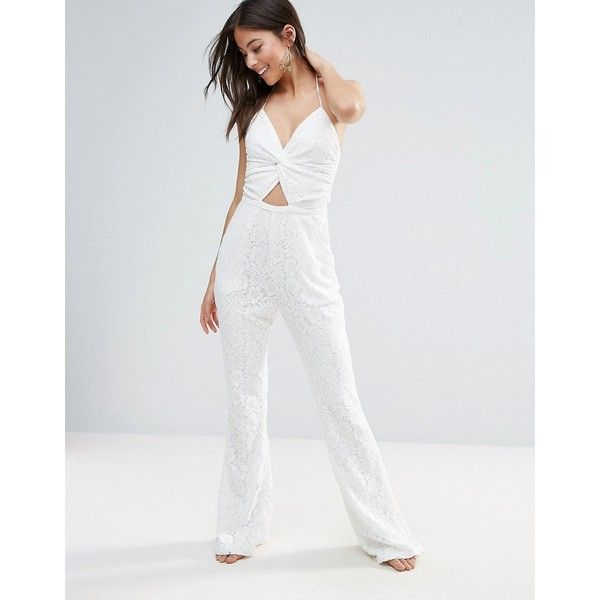 6 Shore Road Globe Trotter Lace Beach Jumpsuit ($94) ❤ liked on Polyvore featuring jumpsuits, multi, white wide leg jumpsuit, white jump suit, beach jumpsuit, white lace jumpsuit and wide leg jumpsuit