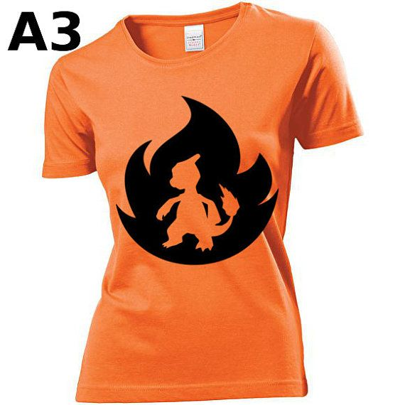 """T-shirt Orange pour Femme (différentes tailles disponibles), logo """"Reptincel"""" - Format d'impression au choix: A3 ou A4"""