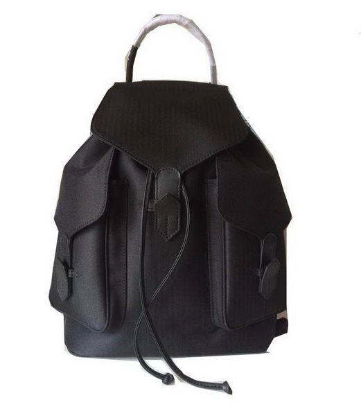Hermes Canvas & Leather Backpack H1718 Black - $259.00